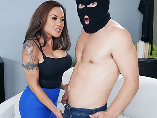 Crotchety asian MILF punished young hooligan