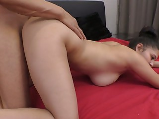 Fabulous broad in the beam breasted Ava Black turns into such a wild cowgirl