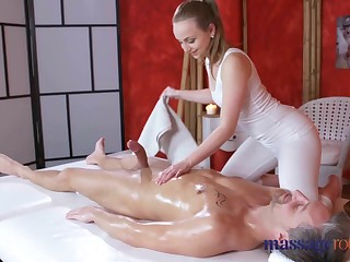 Massage Compromise Loud orgasms added to creampie for fat cock