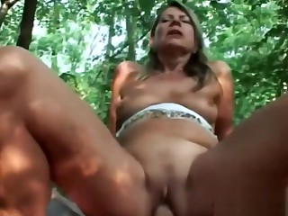 Blonde Gilf Samantha Riding Cock Fatherland Cowgirl