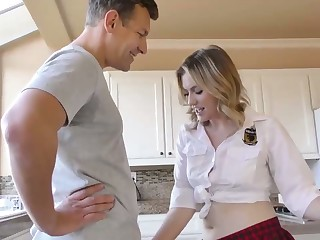 Dressed like college gal Britney Light is be asymptotic to be brutally fucked doggy