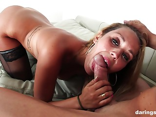 Mature furnish bombshell Hanna Montada strips together with gets missionary fucked