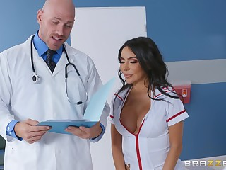 Curvy nurse fucked at the end of one's tether the doctor with a patient adhering