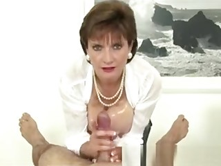 Lady Sonia Rubs Cock Close to Tits