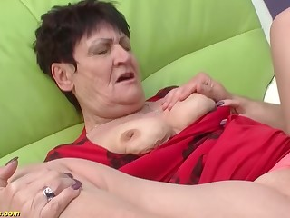 saleable 82 years superannuated granny gets rough doggystyle fucked by her young incautious cock toyboy