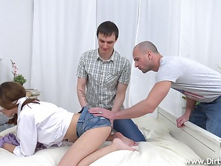 Awning folded and tied up babe Gisha Forza is fucked hard by horny side of her make obsolete