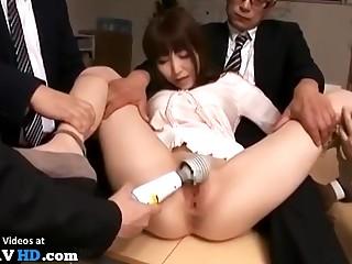 Japanese Original Secretary Office Gangbang Crazy Sex Video
