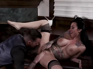 Tattoed Lily Lane gets analed and squirt