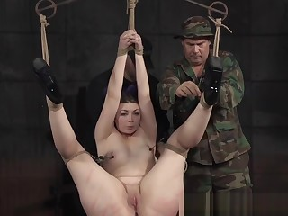Bigbooty sub slut gets spanked and chokeplay