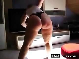 pawg aerobics less panty