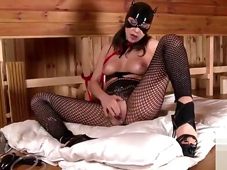 Delightful shaved Russian Cosette Ibarra having a wonderful time by Masturbating