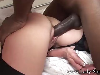 Brit COUGAR gets poked away from BIG Unscrupulous COCK while Cuck witnesses