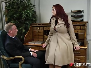 Alessandra Jane and Emma are having a 3some in their office, instead be fitting of doing their labour
