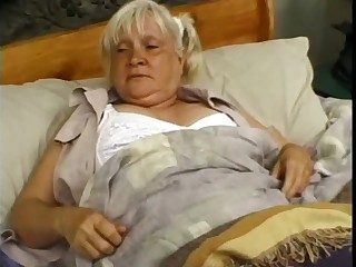 Granny Mildred enjoying monster cock hardcore missionary