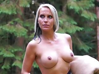 Blue eyed milf tries kinky lustful pleasures in the outdoor