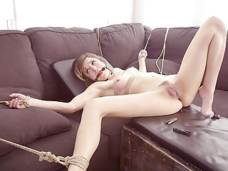 MILF Ryan Keely and her husband tie up and misemploy Eliza Jane