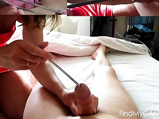 femdom interpolate cock large half spoon icecream mistress