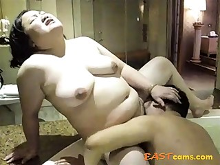 Clumsy Asian matured fingered