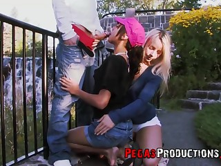 bisexuall threesome surrounding Dolly Princess is memorable that reason dude
