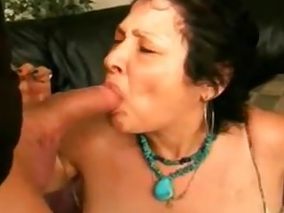 Granny Doing Blowjob