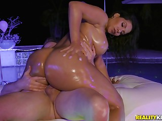 Big ass mom rides son with both pussy and ass