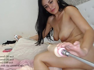 Chilean Girl Kiittyyx Pounds Lasting Her Derriere