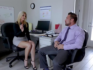 Sexy India Summer enjoys sex with her colleague nearly her office