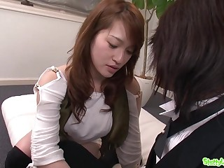 Magnificent Japanese cosset gets very nasty with her boyfriend - blowing absent