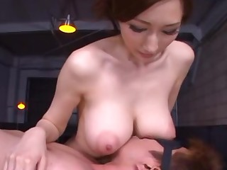 Mosaic: Big tits Asian gives disburse and titsjob