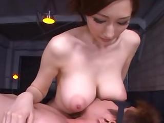 Mosaic: Big tits Asian gives disburse and titsjob