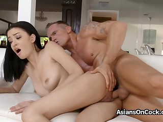 Full of life Scarlett Blossom loves afar hard fuck