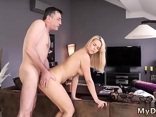 Daddy plus associate's daughter in car papa big dick
