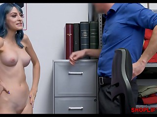 Cute girl caught stealing - hot order about nymph