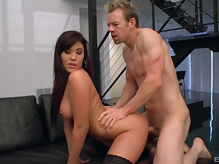 Munificence Asian milf bends for the Hawkshaw in exclusive XXX