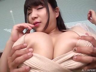 Massive gut Asian murk rides on a friend's penis like no yoke before