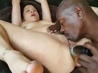 Matured Interracial Anal With Huge Dildo