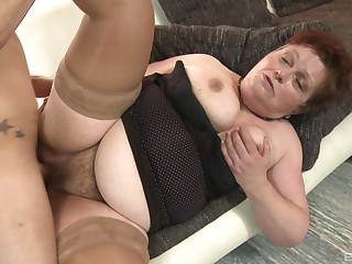 Mature lady Gizou sucks friend's dick before she takes it badly