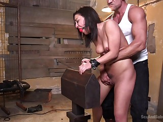 BDSM and a slave role is amazing experience with tied Amara Romani