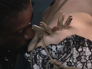 Interracial torturing with respect to a big black pecker with an increment of Sasha Grey