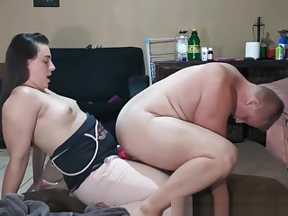Unchanging Deep and Intense Femdom Strapon Pegging Bonk