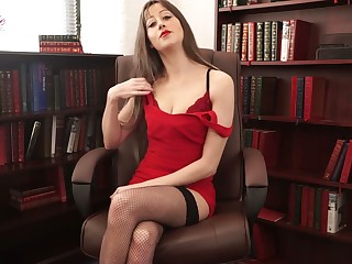 Whorish penman Jenny is telling erotic stories in morose skivvies and stockings