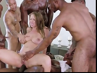 Anal, Blonde, Big cock, Doggystyle, Double penetration, Interracial