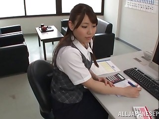 Stocking-clad Asian neonate with a nice body sucking a stranger's blarney