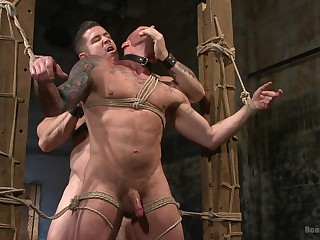 Extreme gay porn almost bondage scenes be proper of two bareback hunks