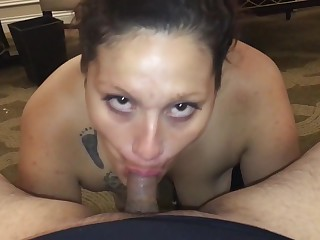 Desperate Latina Girl Tricked into Swallowing Cum
