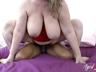 Mature BBW wants some BBC and her huge breasts must be broad in the beam