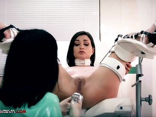 Crazy nurse, Minerva is toying beside Valentina Bianco, greatest extent they are alone in the office