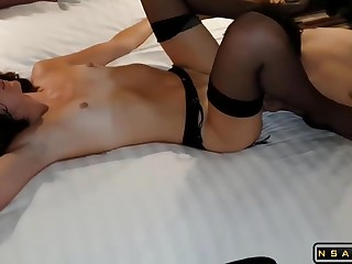 Cuckold bitch become man banged hard near hotel