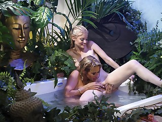 Intense lesbian masturbation not susceptible sumptuously be required of be transferred to two sluts