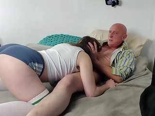 Teen loves being strangled and hard fucked prevalent her mouth